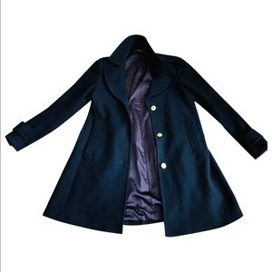 Theory virgin wool-cashmere blend military peacoat